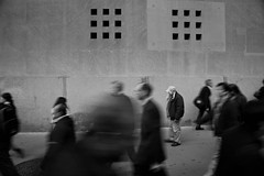 Passages. (Michah Saperstein) Tags: nyc newyorkcity blackandwhite bw blur manhattan candid slowshutter ghosts peoplewatching candidstreetphotography michahsapersteinphotography candidnycstreetphotography