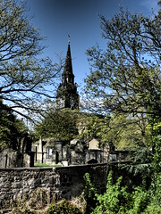 The Parish Church of St Cuthbert (Diamond Geyser) Tags: tree graveyard edinburgh theparishchurchofstcuthbert