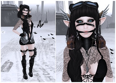 The Plastik @ World Goth Fair 2013 (Naniel / Rinoa) Tags: tattoo wings truth horns sl secondlife gauze wgf dirtyland theplastik grollwerk insufferabledastard etchaflesh remarkableoblivion lovelydisarray