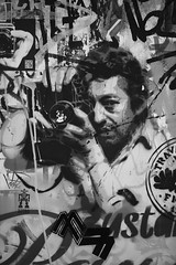 Serge Gainsbourg taking a picture (Alexandre Dulaunoy) Tags: bw paris stencil nb gainsbourg pochoir sooc