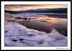 Brighton Beach Ice-4 (Ben Podolak) Tags: ice sunrise lakesuperior