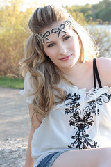 boho photo shoot (saucy dragonfly) Tags: fashion photography blog photoshoot photos saskatoon loopy accessories boho bohemian headband forever21 saucyssprinkles