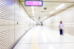 Fukuoka Subway (Hal Bergman Photography) Tags: blur citylife clean entrance fukuoka japan japanese people sparse staiton subway underground