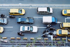 traffic view from my place (Gregory Wu) Tags: film 50mm nikon kodak nikkor ai fg colorplus