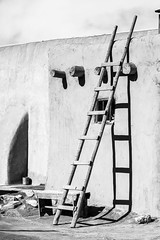Building Access (Michael Deleon Photo) Tags: newmexico architecture buildings blackwhite unitedstates historic nativeamerican adobe taos taospueblo