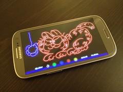 Glow Doodle on Samsung Galaxy (Cross-Discipline Technology) Tags: glow samsung doodle galaxy tab s5 glowdoodle galaxytab galaxys5