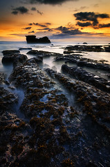 Blue Hour of Melasti Beach (eggysayoga) Tags: bali seascape rock indonesia landscape moss nikon tokina filter 09 lee nd graduated waterscape gnd melasti portscape 1116mm d7000