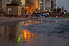 Reflections of lights (Poupetta) Tags: reflections lights themediterraneansea telavivbeach