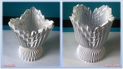 Folding Cup Intersecting Patterns 3 (NeoSpica / NeoLiveArt) Tags: sky lamp paper demo grid origami pattern patterns magic gothic optical vessel structure diamond illusion shade lanterns gradient vase kirigami fractal parallel tessellation corrugation corrugated folding nexus goblet pleated pleats pleating polyscene neoliveart neospica funium