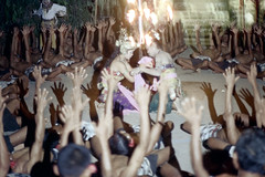 24-836 (ndpa / s. lundeen, archivist) Tags: shirtless people bali color men film festival 35mm indonesia fire dance women candles sitting dancers dancing torches traditional nick performance ceremony culture celebration flame southpacific barefoot ritual 24 tradition 1970s performers 1972 seated indonesian candelabra balinese kecak dewolf oceania pacificislands youngwomen crosslegged youngmen armsraised ketjak nickdewolf photographbynickdewolf groupofmen ketjack pacificislandculture reel24
