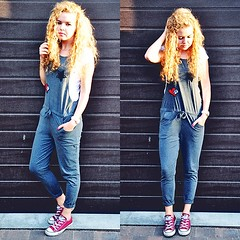 Hello August /// grey jumpsuit by Aleksandra G., 18 year old blogger, photographer from Poland (9lookbook.com) Tags: 80s 90s adidas august badges black blogger blonde blouse blue boots boyfriend cardigan casual chic coat colorful comfortable contemporary converse curly curlygirl denim distressed dress dungarees effortless europe fur girly grey gym hipster holes jeans jumpsuit marsala minimal neutrals onepiece outerwear pants platforms poland polish red schoolgirl shirt shoes skirt sneakers street streetstyle streetwear summer sunglasses sunny sweater today top vintage watch wedges white work weekday