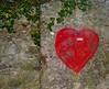 Un cerotto sul cuore (SoleTempesta) Tags: cuore heart amore cerotto ferite muro paint disegno picture wall foglie rosso red soletempesta love hurt