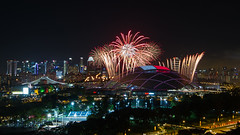 NDP Preview 1 Fireworks (Jake Wang) Tags: singapore national day 2016 preview ndp sportshub sports hub kallang stadium fireworks