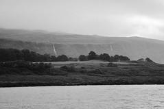 DSC_5166 [ps] - Must Come (Anyhoo) Tags: anyhoo photobyanyhoo oncorryvreckan soundofmull cliff stream river waterfall brook burn waterfalls headland promontary coast shore water sea ripples rain cloud haze mist morvern scotland uk bw blackandwhite