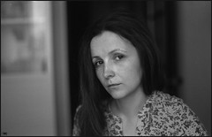 Tatiana (thexvo) Tags: xvophoto contax contaxrx planar cy 35mm film bw portrait filmisnotdead ishootfilm 135film    carlzeiss