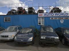 Auto World (geowelch) Tags: thejunction toronto urbanlandscape urbanfragments automotive autoparts panasoniclumixgx1 panasoniclumix14mm25