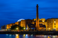 The Albert Dock during the blue hour (wellsie82) Tags: 6d jasonwells pumphouse albertdock bluehour canningdock canon dock eos ferriswheel illuminated jasonwellscouk lights liverpool liverpoolskyline liverpoolwheel longexposure motionblur movement night nightphotography noctural pub reflection spinning twilight urban water wellsie82 wheel wwwjasonwellscouk