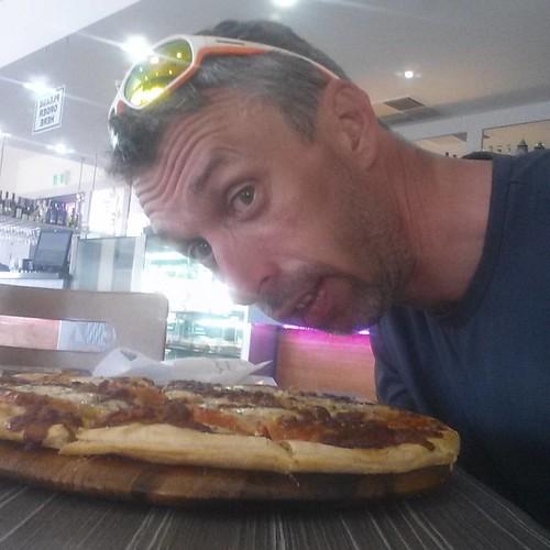 Viva la pizza.   #racetotherock #adelaide #ayersrock #uluru #australia #cycling #mtb #mountainbike #ot #bpbe