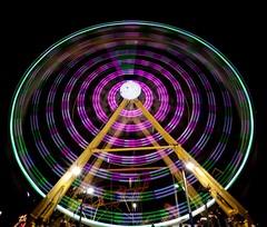 DSC02299 (Moodycamera Photography) Tags: canadiannationalexhibition cne toronto ontario nightphotography rides slowshutterspeed long exposurerlights ferriswheel swing turning twisting spining amusment horse hdr
