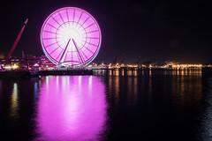 Seattle wheel (jeff's pixels) Tags: longexposure wheel seattle washington night photo dark light neon ferris nikon