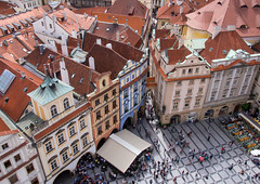 Old Town Square, Prague (Matthew Usher) Tags: prague praha czech republic europe travel olympus holiday explore cityscape town square