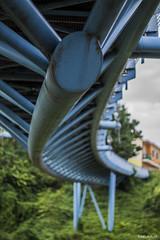 """Under """"Albano Zuin"""" footbridge (PurpleTita) Tags: beinasco turin torino piemonte piedmont summer estate passerella bridge city albanozuin footbridge architettura"""