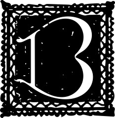 "Letter ""B"" (sjrankin) Tags: 19august2016 edited library britishlibrary character letter alphabet vector vectorized illustration grayscale b"
