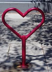 Bike Rack, Heart - Long Beach (Joey Z1) Tags: heart heartasbicyclerack coolbikerack urbanfun bikerack streetscene longbeachca longbeachstreetscene artsdistrictlongbeach lbc thelbc longbeach sidewalk shadowsfromthetrees urbanscene urbanscenebyjoeyz1 bylaphotolaureatejoeyzanotti