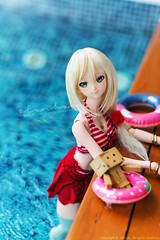 vacation (TURBOW) Tags: doll toy volks dollfiedream dd mikihoshii idolmster idolmaster lullabypoemwig nine9style danbo danboard pool