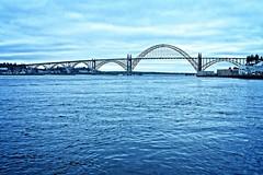 Yaquina Bay Bridge in Newport, Oregon (goodhike) Tags: yaquina bay bridge yaquinabaybridge arch archbridge route 101 route101 newport or oregon