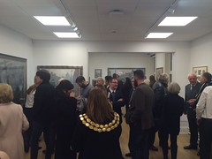 A preview evening and opening of The Norman Cornish Room at Spennymoor Town Hall