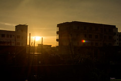 Sunshine (Manzur Ahmed) Tags: sunset sunray golden sun nikon d7100 june 2016 building
