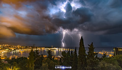 Storm on Split, Croatia (thomaslaconis) Tags: storm orage stormy weather nuages eclairs lightning croatia split riviera adriatic canon6d thomaslaconis raw night nuit longexposure shot
