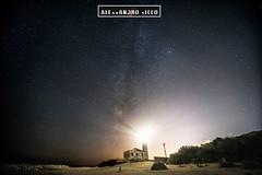 The matter of fairytales (ilcorvaccio) Tags: milkyway sky stars lighthouse light alessandrosicco beach sand sea night