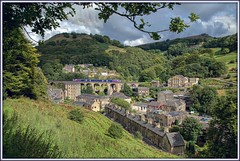 Happy Valley (david.hayes77) Tags: class158 dmu northern caldervalley calderdale lydgate lydgateviaduct 2015 1b16 yorkshire westyorkshire village todmorden