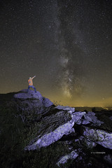 Just me on top of the world (Tekila63) Tags: night milkyway character nightshot nightscape auvergne pierresurhaute forez