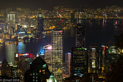 City night and the magical view... (EHA73) Tags: aposummicronm1290asph leica leicam typ240 hongkong cityscape nightphotography travel lights night victoriaharbor victoriapeak skyscrapers towers buildings water longexposure
