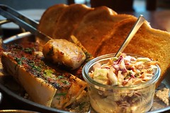 Over Roasted Bone Marrow at Blue Duck Tavern (deeeelish) Tags: bonemarrow coleslaw bbq bread