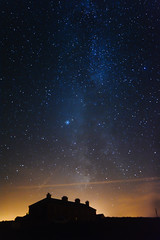 Taking the Milky Way Home (Edward Wolohan) Tags: astrophotography astronomy nightsky milkyway cosmos constellation kilmichael wexford ireland universe lyra altair cygnus house building silhouette vega