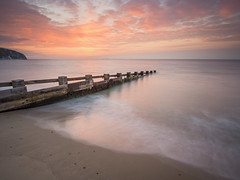 Swanage Beach (Damian_Ward) Tags: damianward photography damianward dorset purbeck isleofpurbeck beach coast seafront sea ocean swanage groyne sunrise