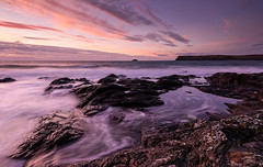 Whirlpools. (b.pedlar) Tags: sea cliffs pools movement reflections seascape sky colours sunset landscape coast ocean seaside shore island cornwall