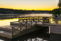 Hellasbadet (redfurwolf) Tags: hellasbadet hallasgrden nacka stockholm sweden nature sunrise lake pier water mist sky outdoor europe redfurwolf sonyalpha naturalreserve sthlm sal2470za