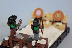 Archery Practice (soccersnyderi) Tags: lego moc creation snow winter landscape archery target range mitgardian mitgardia