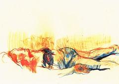 PROYECTO 132-58 (GARGABLE) Tags: angelbeltrn apuntes sketch lpicesdecolores drawings proyecto 132 64 todo varios variado dibujos gargable playa gente siesta sanjuan