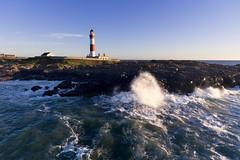 Buchan Ness lighthouse (iancowe) Tags: buchan ness lighthouse buchanness stevenson boddam drone dji phantom 4 djiphantom4 wave waves scotland scottish north sea nlb northernlighthouseboard windy aberdeenshire morning autumn