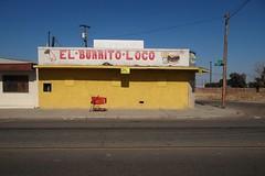 El Burrito Loco (rickele) Tags: fresno elburritoloco outofbusiness vacant defunct handpaintedsign shoppingcart ghostsign oldus99 usroute99