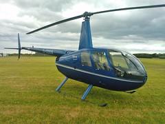G-CDXA (Rob390029) Tags: robinson r44 gcdxa heli helicopter aircraft blue rotor rotors blade blades transport transportation travel eshott airfield