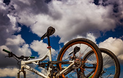 Gunnison County Mountain Biking (Tony Webster) Tags: colorado gunnison gunnisoncounty tomac bicycles bikes dirt mountainbikes sky unitedstates us