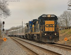 CSX P922-28 at Stevenson, AL (KD Rail Photography) Tags: csx howtomorrowmoves qualityinmotion ringlingbrothersbarnnumbailey ringingbrotherscircus ge generalelectric alabama c408 dash8 d840c smalltown smalltownusa trains railroads transportation passengertrain circustrain cloudydays cloudy cloudyweather winterweather winterseason winter diesellocomotive diesel locomotive