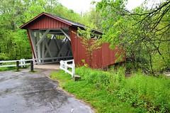 Cuyahoga Valley National Park, Ohio, Everett Covered Bridge (Reconstruction) (EC Leatherberry) Tags: coveredbridge ohio furnacerun summitcounty nationalpark nationalparkservice cuyahogavalleynationalpark everettcoveredbridge reconstruction 1870 smithtruss